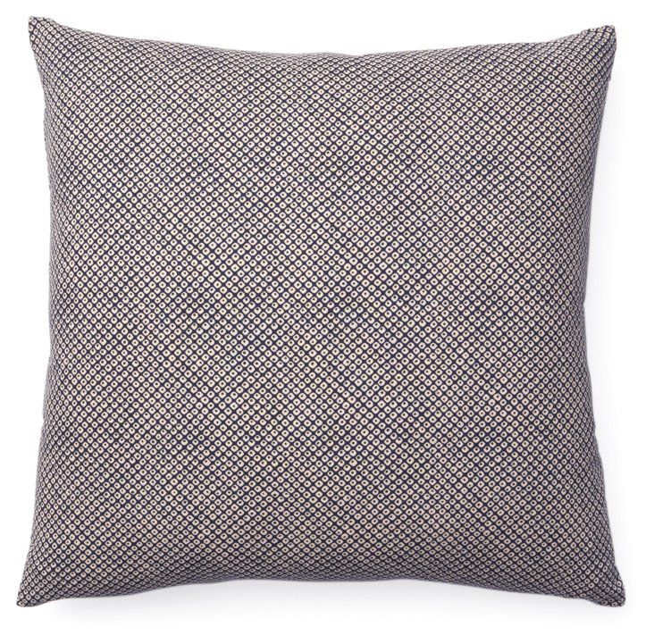 Kio Eye 20x20 Cotton Pillow, Gray