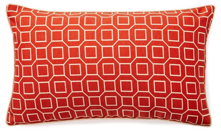 Hexagon 12x20 Outdoor Pillow, Orange
