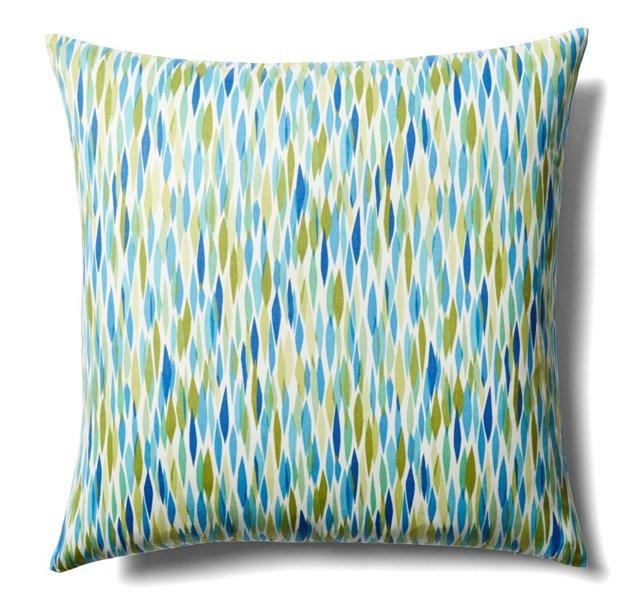 Pan 20x20 Cotton Pillow, Blue