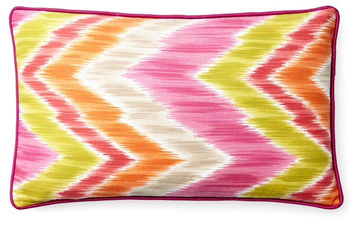 Mountain 12x20 Cotton Pillow, Pink