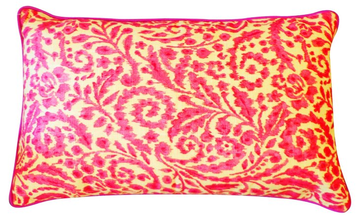 Mayan 12x20 Cotton Pillow, Pink