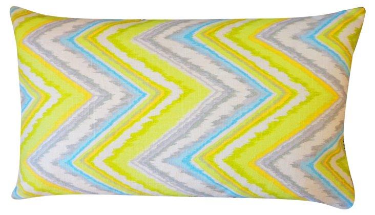 Zigzag 12x20 Cotton Pillow, Multi