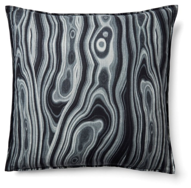 Cortesa 20x20 Cotton Pillow, Black