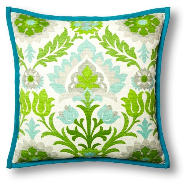 Kiki 20x20 Outdoor Pillow, Green