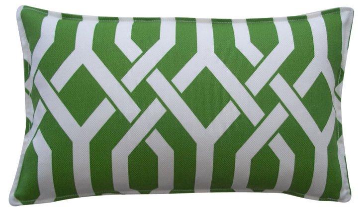 Interwoven 12x20 Outdoor Pillow, Green