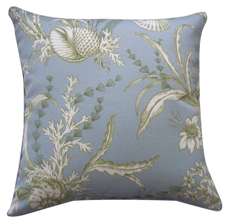 Coastal 20x20 Pillow, Light Blue