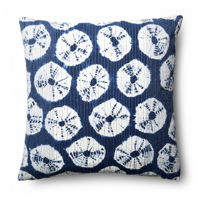 Japur 18x18 Cotton Pillow, Navy