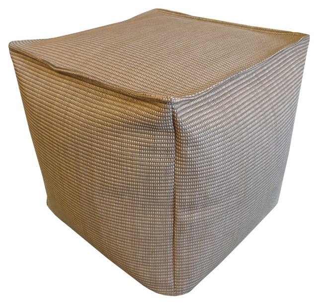 Rafi Outdoor Pouf, Brown