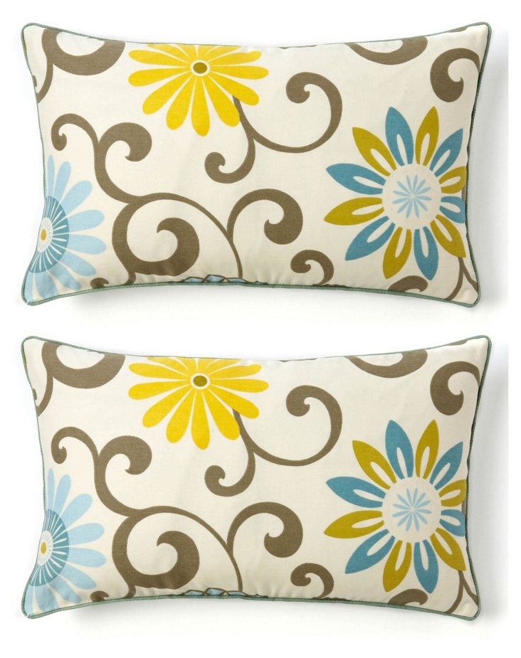 S/2 Play 12x20 Cotton Pillows, Multi