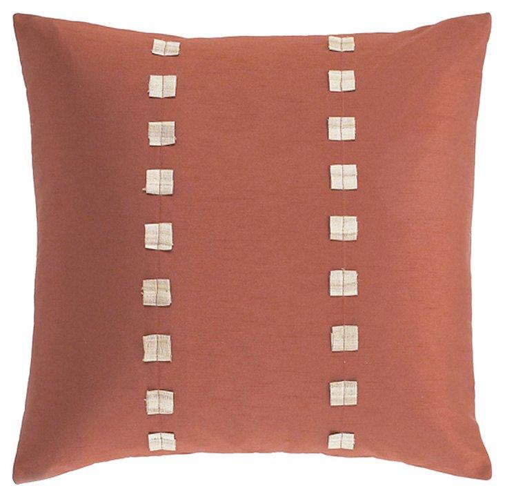 S/2 Dibbie 20x20 Pillows, Rust