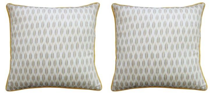S/2 Arrow 20x20 Cotton Pillows, Yellow