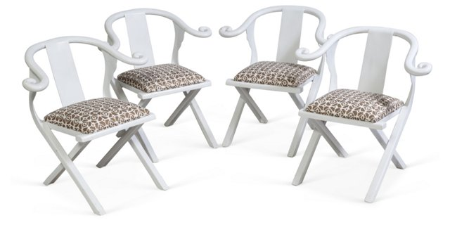 Vintage Outdoor Chairs, Set of 4