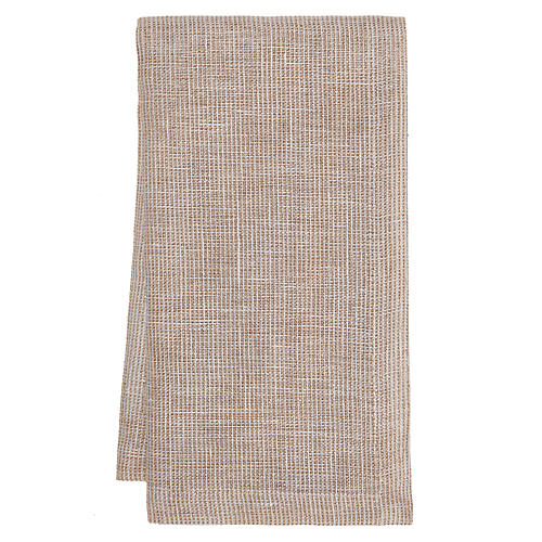 S/4 Venice Dinner Napkins, Tan/Gold