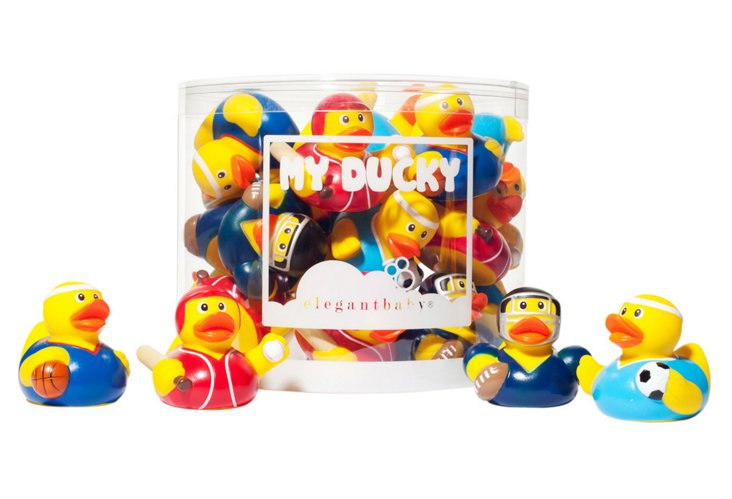 Set of 24 Assorted Ducks, Sports