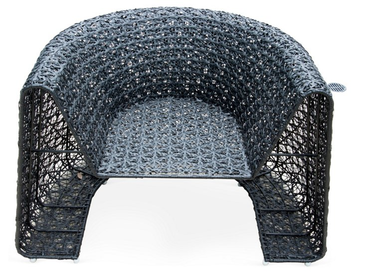 Black Lace Outdoor Chair