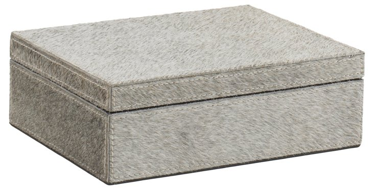 Chelsea Box, Natural Gray Hide