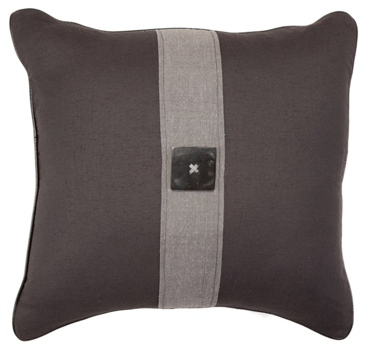 Polished 21x21 Pillow, Gray