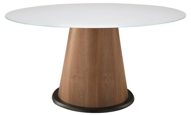 Palio Table, Walnut/White