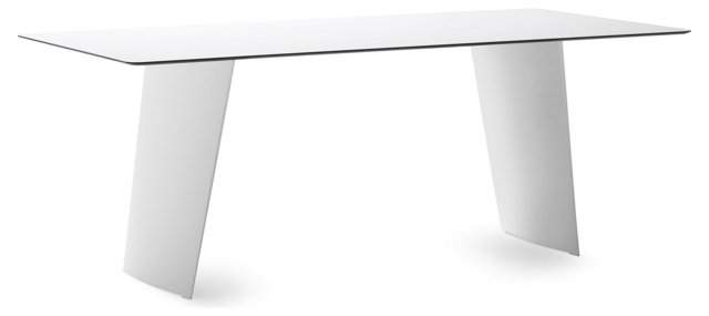 "Ted 79"" Dining Table, White"