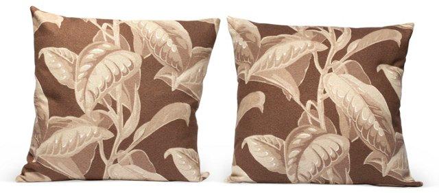 Retro Tropical Pillows, Pair