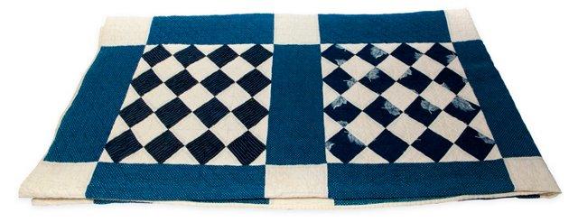 Antique Blue & White Quilt II