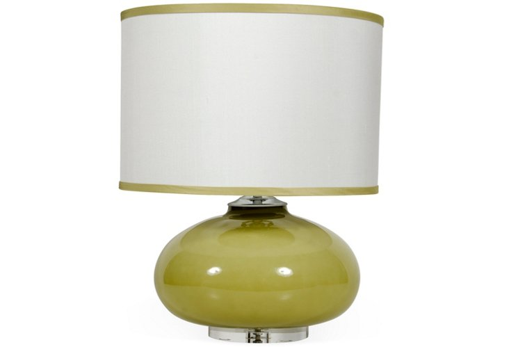 Garbo Table Lamp, Olive