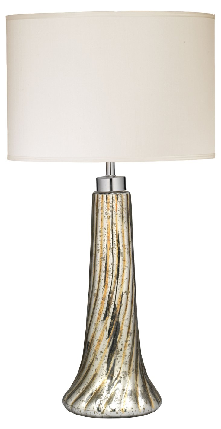 Spiral Table Lamp, Gold