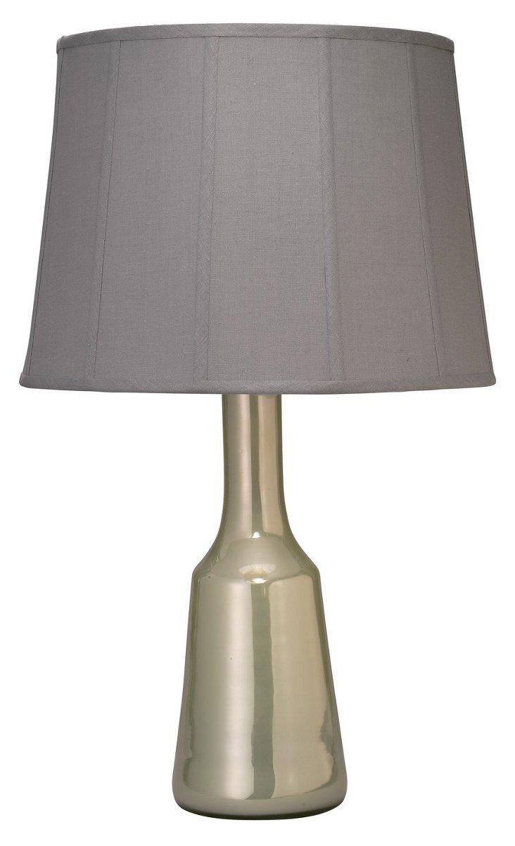 Perfume Bottle Lamp, Pearl Enamel
