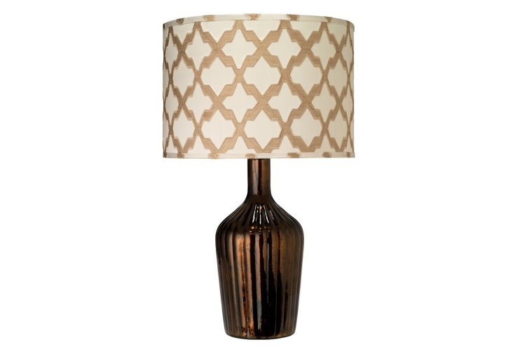 Thalia Lamp, Antique Chocolate/Taupe