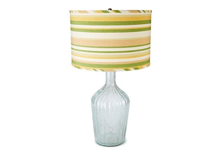 Thalia Lamp, Clear/Beach Stripe