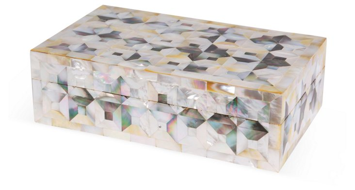 "10"" Mother-of-Pearl Box, Natural"