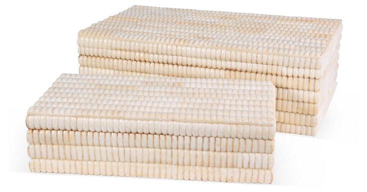 Asst. of 2 Bone Boxes, Ivory