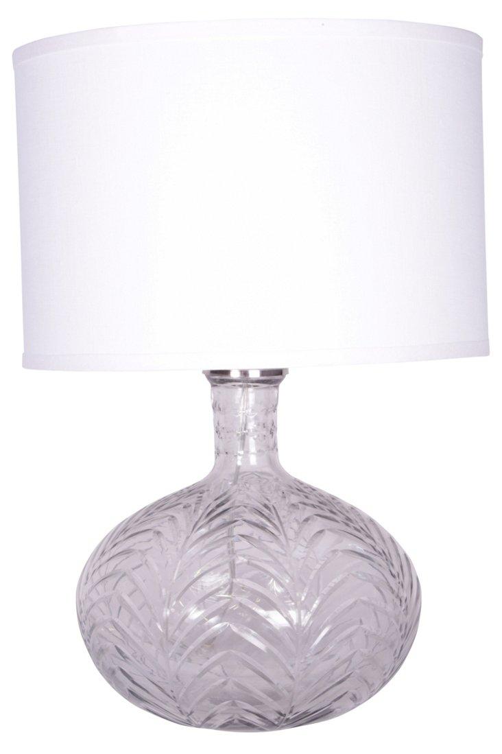 Cut-Glass Globe Lamp