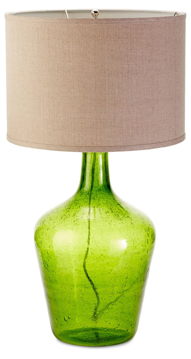Plum Jar Table Lamp, Green