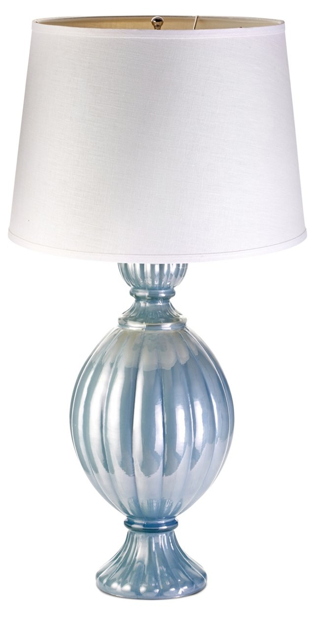 St. Charles Lamp, Blue Pearl