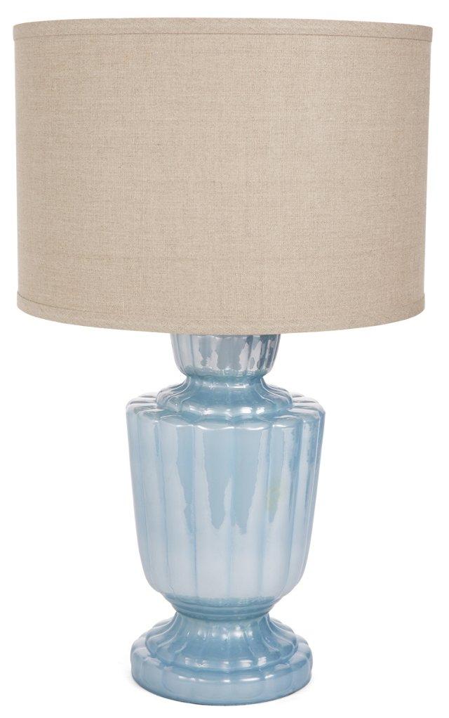Lafitte Table Lamp, Enamel Blue