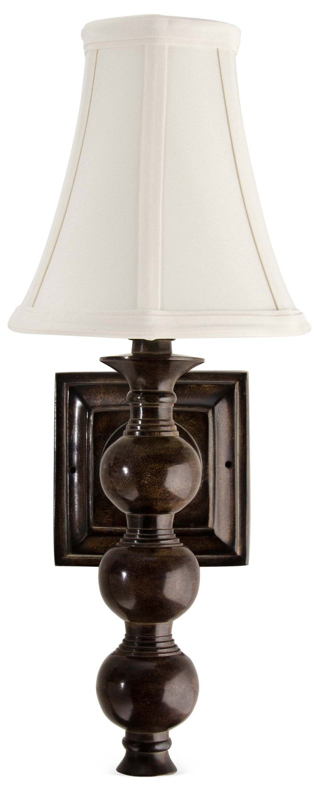 Luna 1-Light Wall Sconce Set, Chocolate