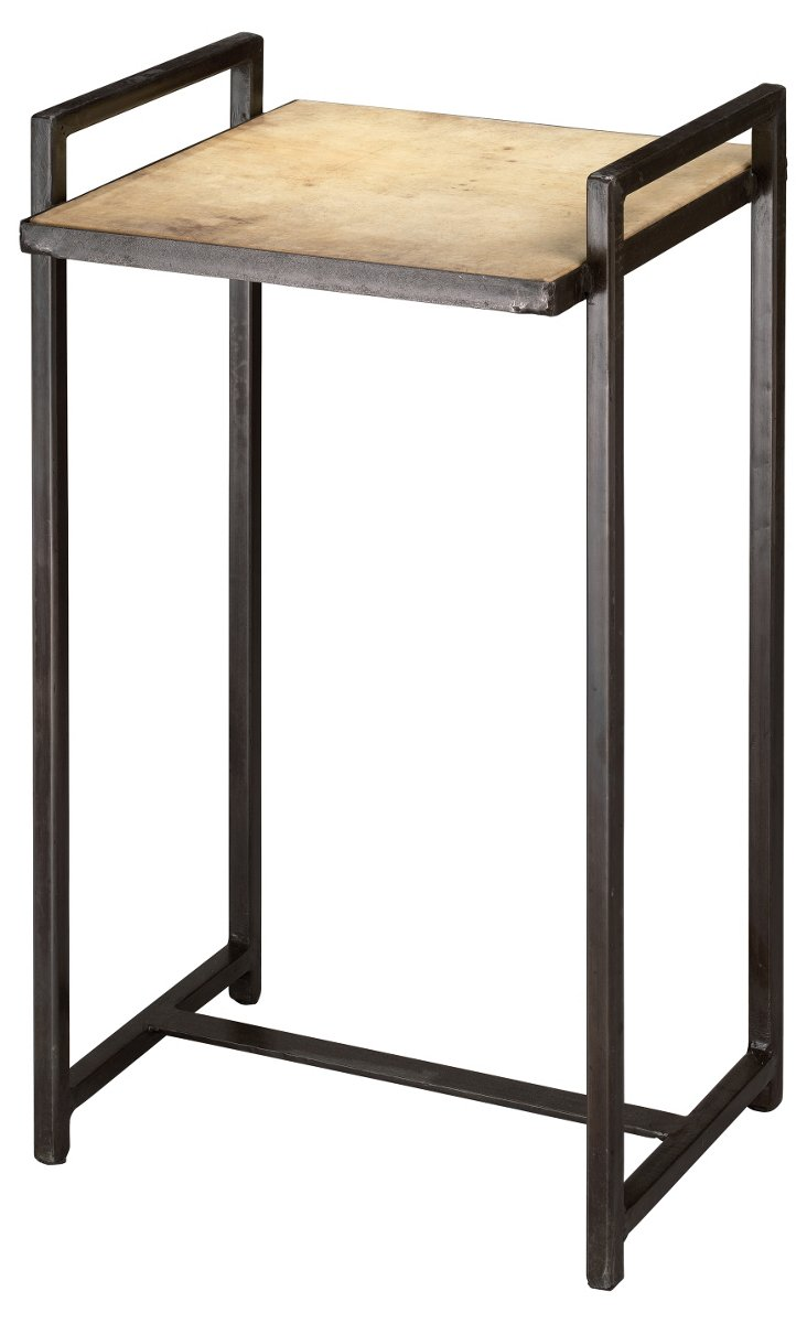 Kellen Side Table, Cream/Gunmetal
