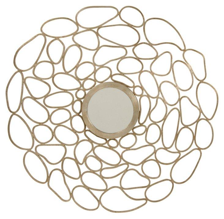 Cercle Wall Mirror, Satin Brass
