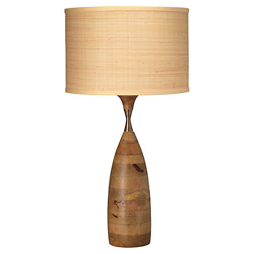 Amphora Table Lamp, Natural Wood