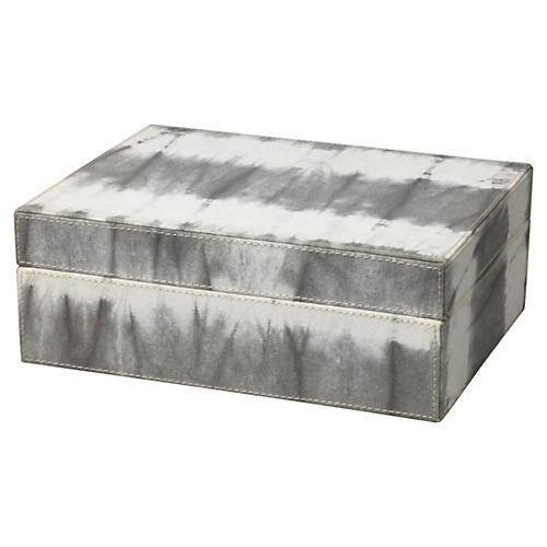 """10"""" Tie Dye Box, Gray"""
