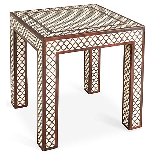 Abbie Side Table, Cream