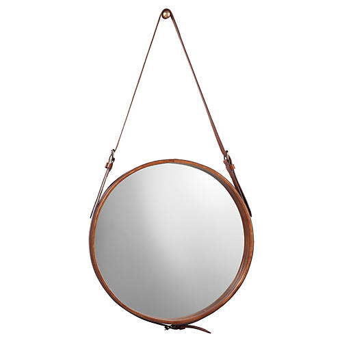 Mini Hanging Mirror, Leather