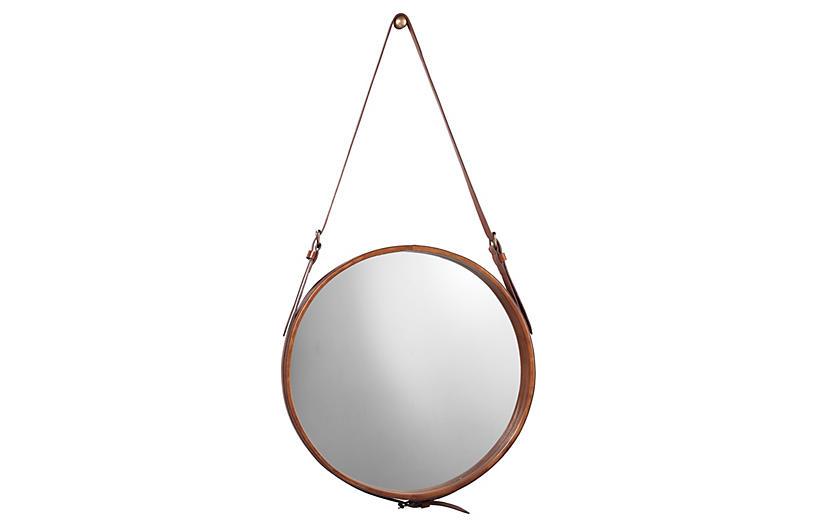 Mini Hanging Mirror, Leather