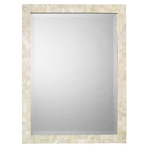 Liam Wall Mirror, Mother-of-Pearl
