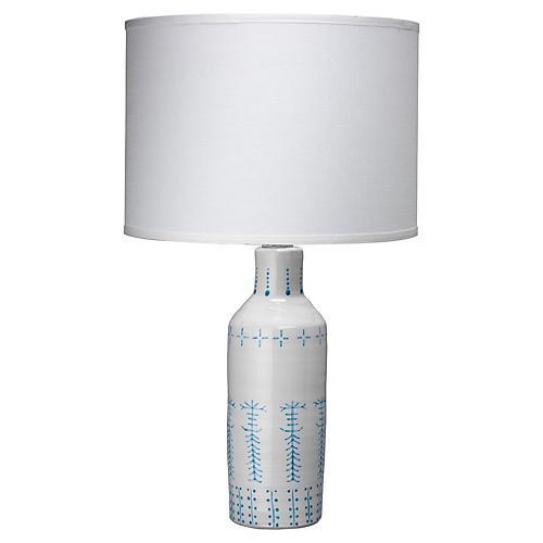 Louba Table Lamp, White
