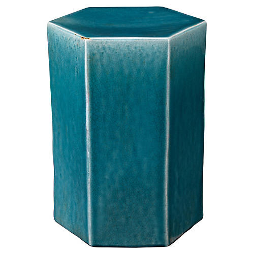 Small Porto Side Table, Blue