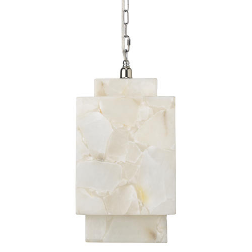 Borealis Cube Pendant, Alabaster