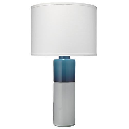 Copenhagen Table Lamp, White/Navy