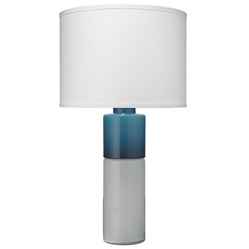 Copenhagen Table Lamp, White/Navy